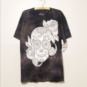 The Mountain Tie Dye Day of the Dead Color…